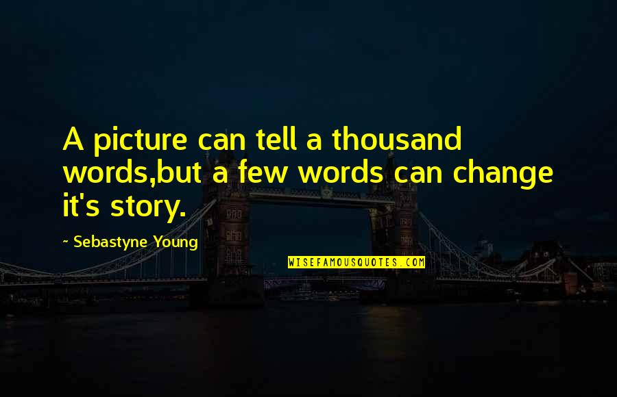 Thousand Words Quotes By Sebastyne Young: A picture can tell a thousand words,but a