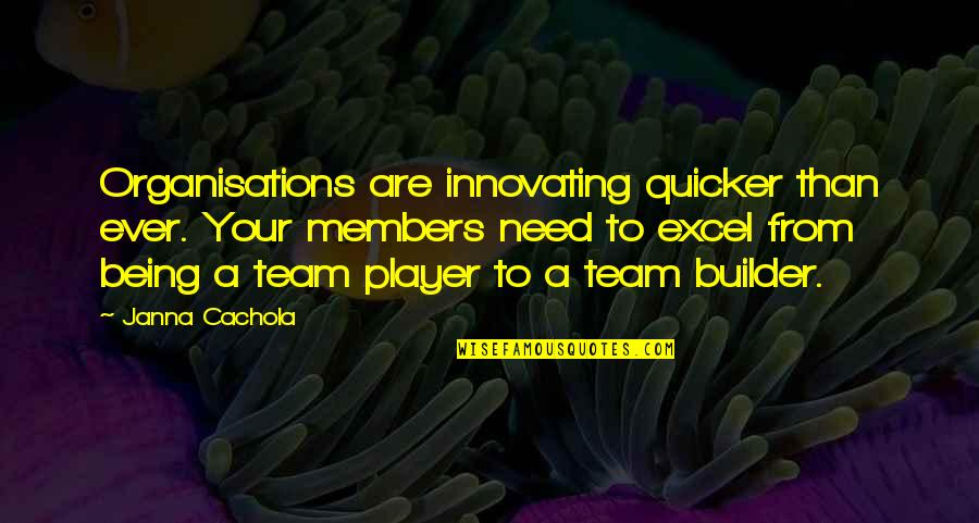 Three Amigos Quotes By Janna Cachola: Organisations are innovating quicker than ever. Your members