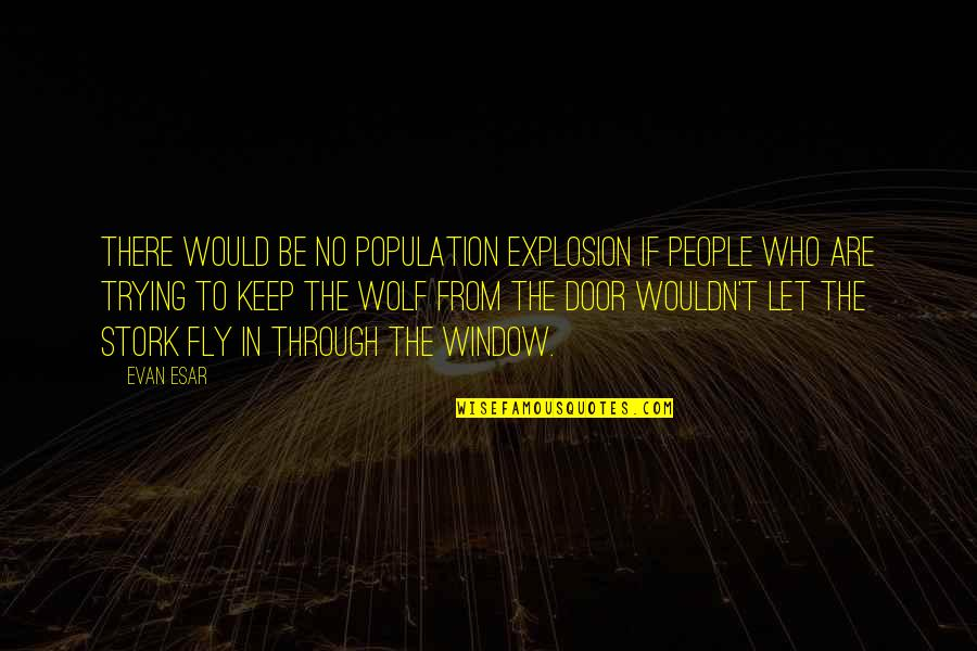 Through The Window Quotes By Evan Esar: There would be no population explosion if people