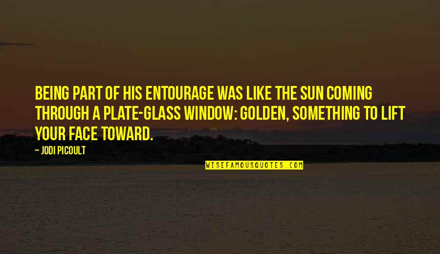 Through The Window Quotes By Jodi Picoult: Being part of his entourage was like the