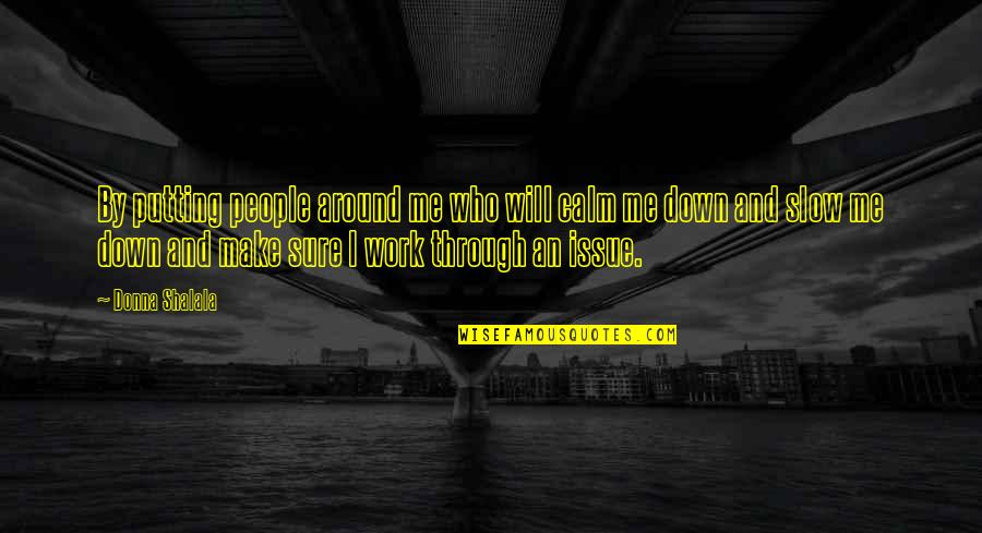 Through Up And Down Quotes By Donna Shalala: By putting people around me who will calm