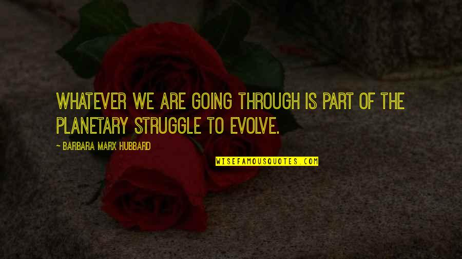 Through Whatever Quotes By Barbara Marx Hubbard: Whatever we are going through is part of
