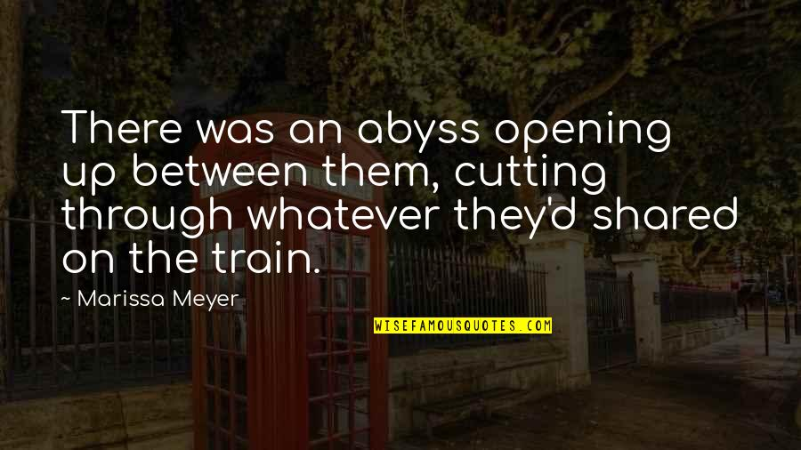 Through Whatever Quotes By Marissa Meyer: There was an abyss opening up between them,