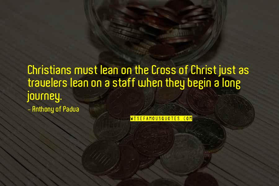 Throw Pillow Covers With Quotes By Anthony Of Padua: Christians must lean on the Cross of Christ