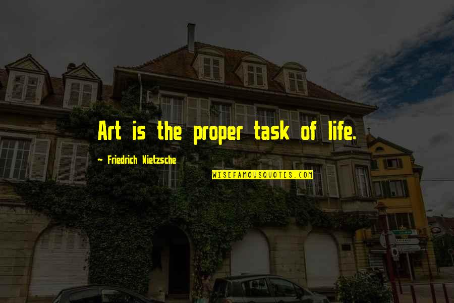 Throwing Shot Put Quotes By Friedrich Nietzsche: Art is the proper task of life.