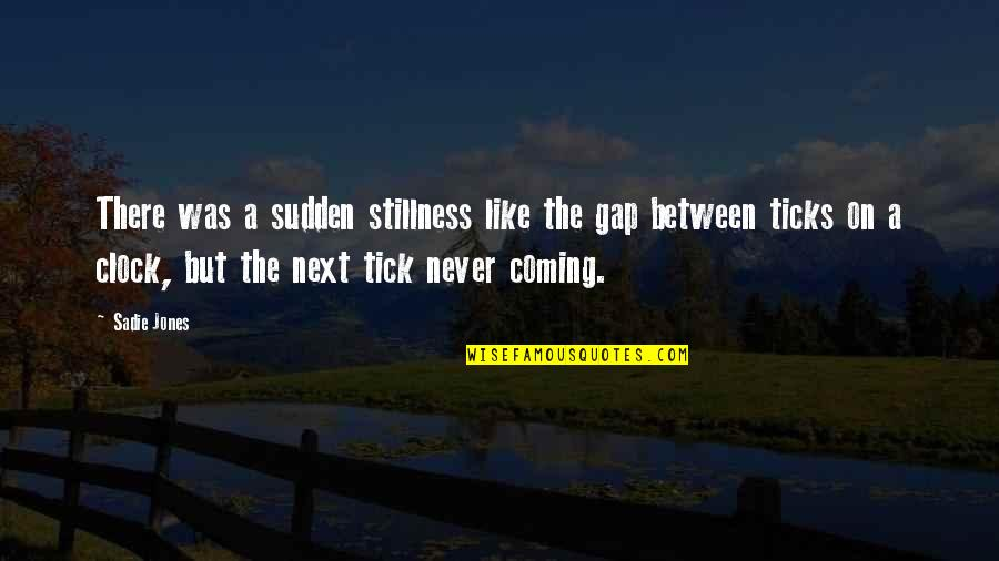 Tick Quotes By Sadie Jones: There was a sudden stillness like the gap