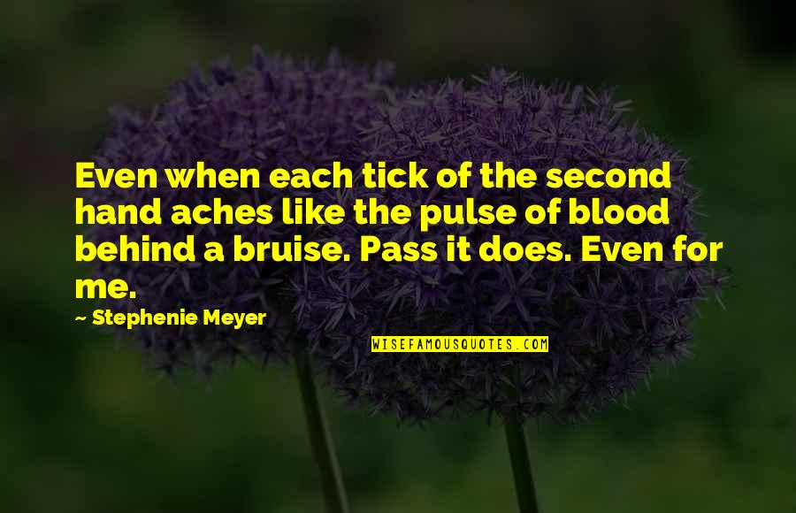 Tick Quotes By Stephenie Meyer: Even when each tick of the second hand