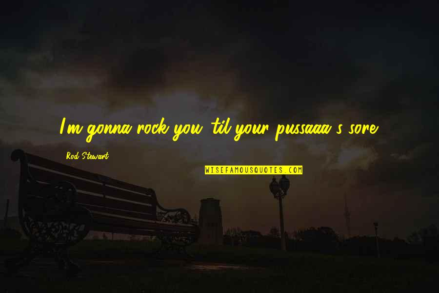 Til Quotes By Rod Stewart: I'm gonna rock you 'til your pussaaa's sore.