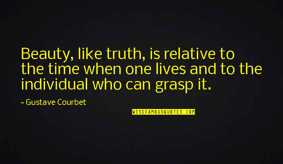 Time And Beauty Quotes By Gustave Courbet: Beauty, like truth, is relative to the time