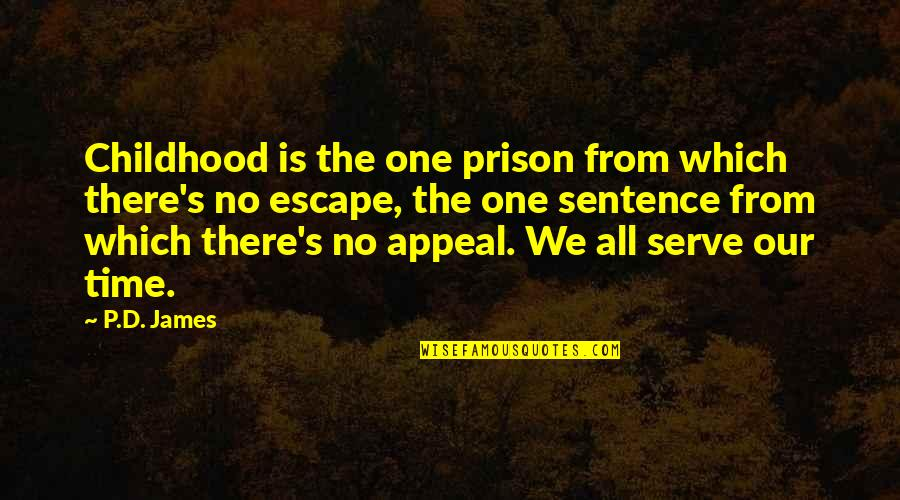 Time And Childhood Quotes By P.D. James: Childhood is the one prison from which there's