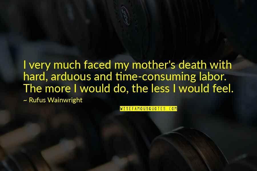 Time And Death Quotes By Rufus Wainwright: I very much faced my mother's death with