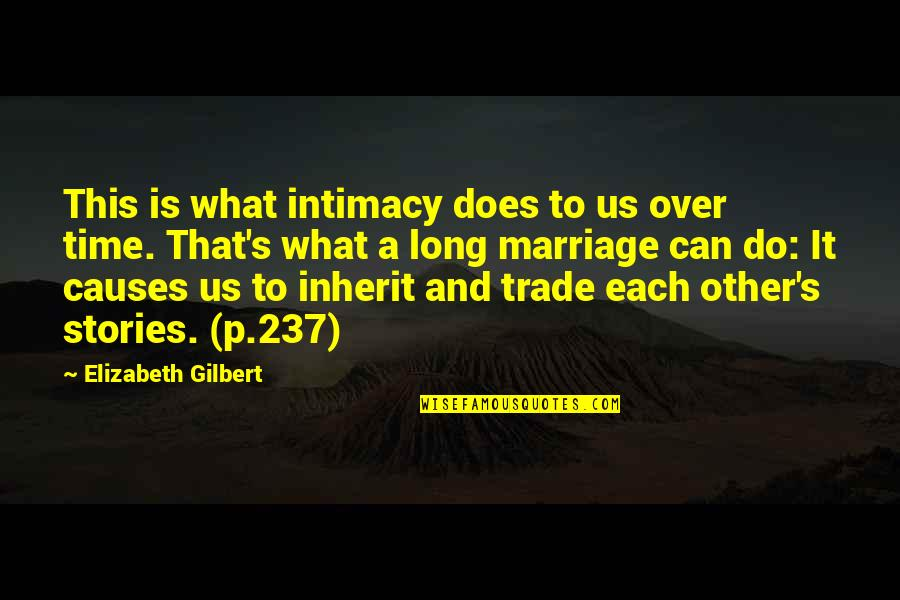Time And Marriage Quotes By Elizabeth Gilbert: This is what intimacy does to us over