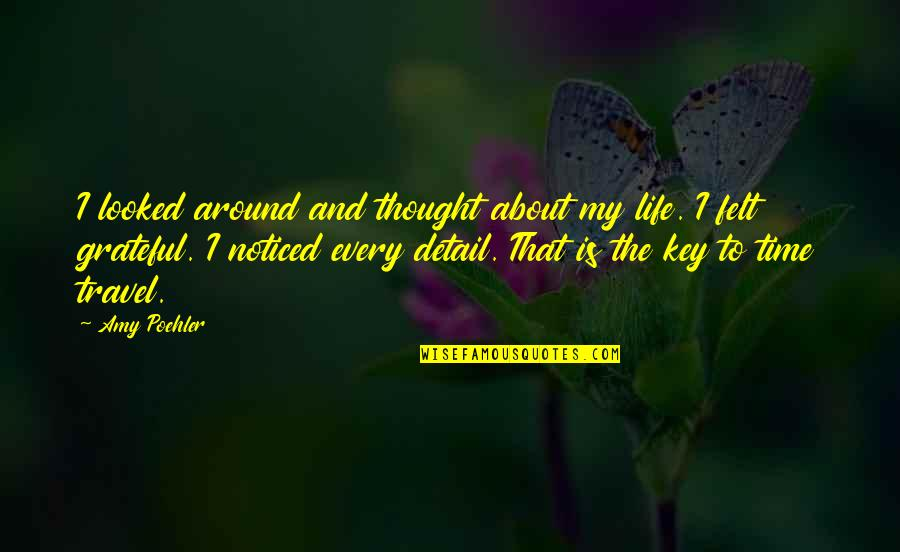 Time And Travel Quotes By Amy Poehler: I looked around and thought about my life.