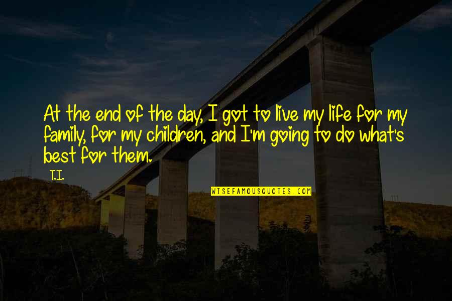 Time Changes Relationships Quotes By T.I.: At the end of the day, I got