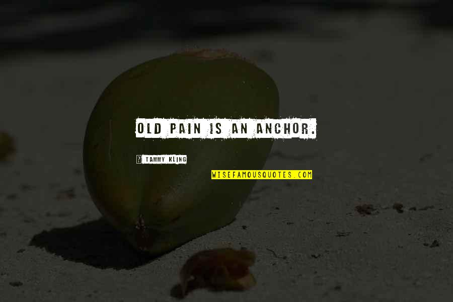 Time Changes Relationships Quotes By Tammy Kling: Old pain is an anchor.