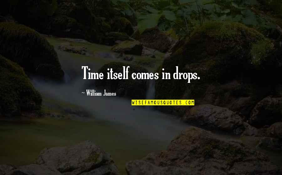 Time Comes Quotes By William James: Time itself comes in drops.