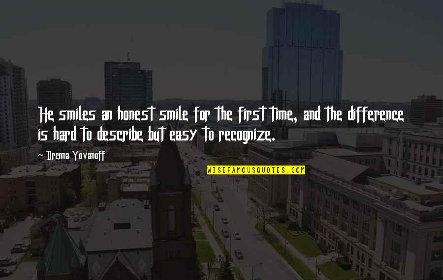 Time Difference Quotes By Brenna Yovanoff: He smiles an honest smile for the first