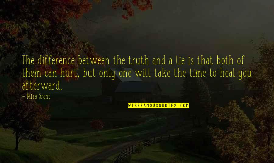 Time Difference Quotes By Mira Grant: The difference between the truth and a lie