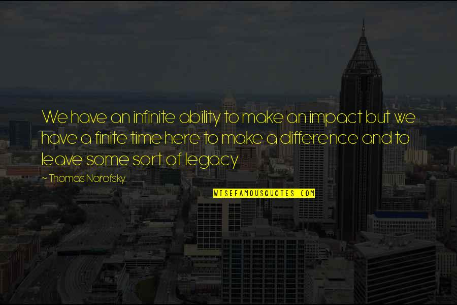 Time Difference Quotes By Thomas Narofsky: We have an infinite ability to make an