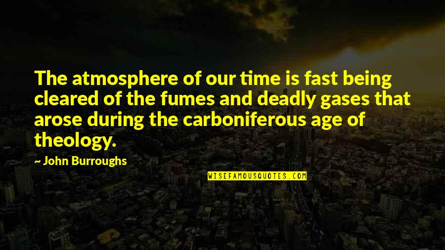 Time Fast Quotes By John Burroughs: The atmosphere of our time is fast being