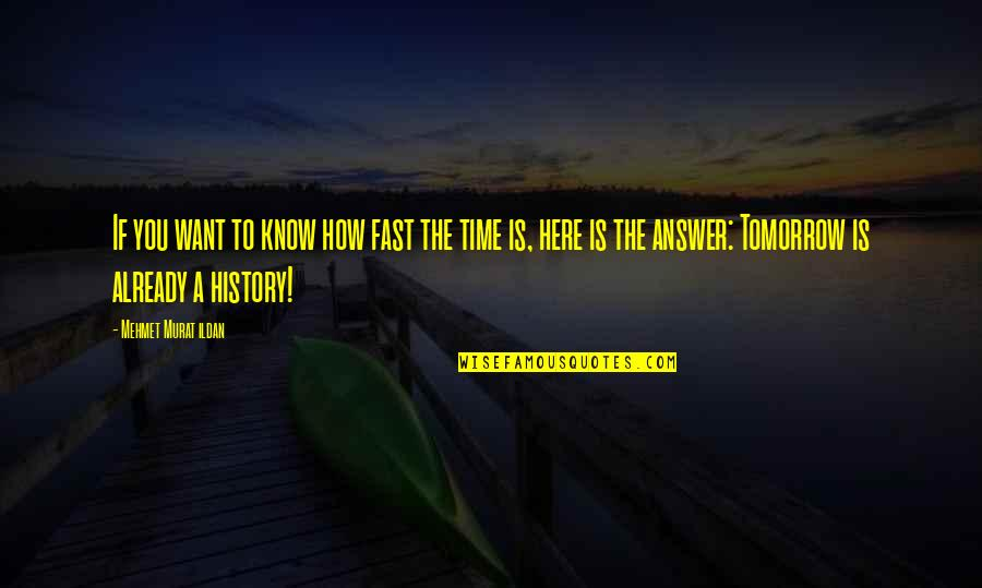 Time Fast Quotes By Mehmet Murat Ildan: If you want to know how fast the