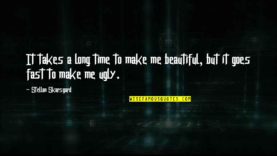 Time Fast Quotes By Stellan Skarsgard: It takes a long time to make me
