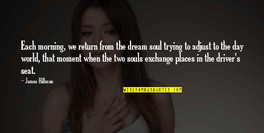 Time Flies Family Quotes By James Hillman: Each morning, we return from the dream soul