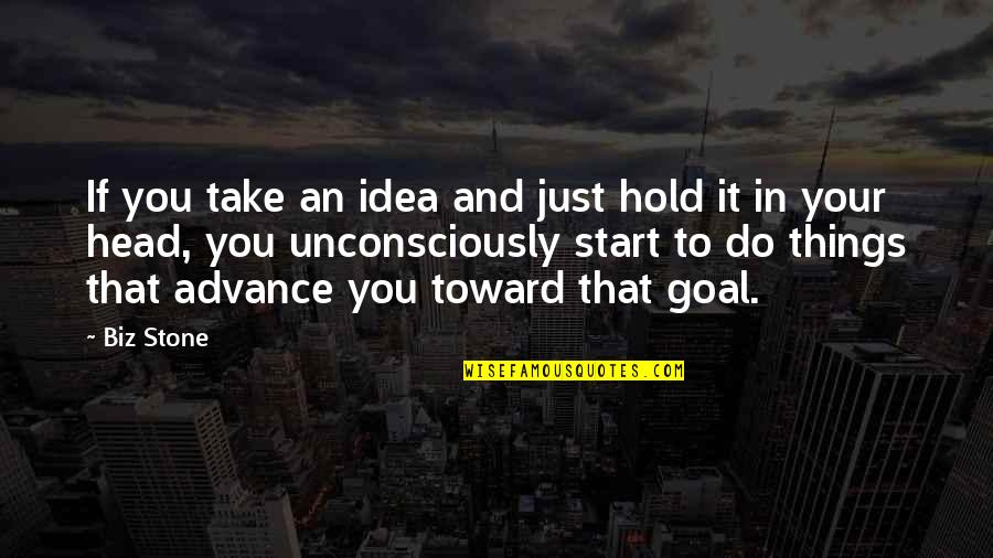 Time Flies So Fast My Son Quotes By Biz Stone: If you take an idea and just hold