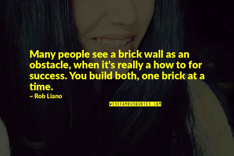 Time For Love Quotes By Rob Liano: Many people see a brick wall as an