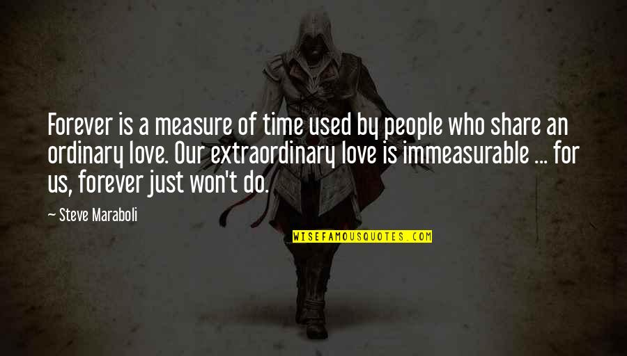 Time For Love Quotes By Steve Maraboli: Forever is a measure of time used by