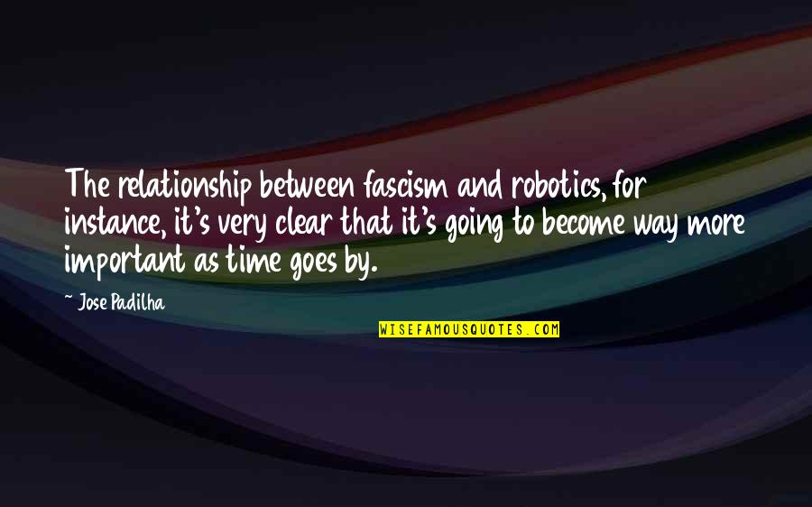 Time Goes By Quotes By Jose Padilha: The relationship between fascism and robotics, for instance,