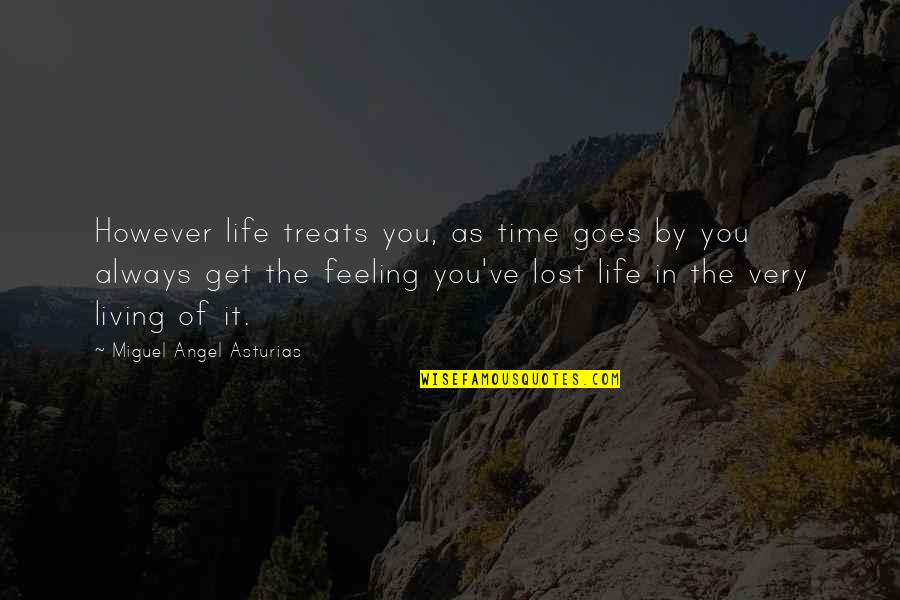 Time Goes By Quotes By Miguel Angel Asturias: However life treats you, as time goes by