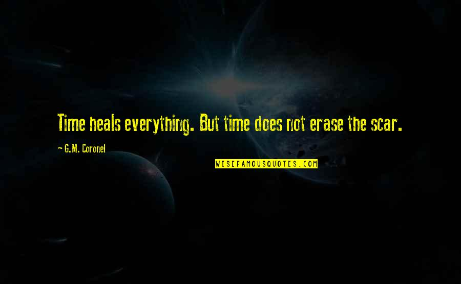 Time Heals Everything Quotes By G.M. Coronel: Time heals everything. But time does not erase