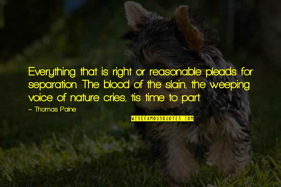 Time Is Right Quotes By Thomas Paine: Everything that is right or reasonable pleads for