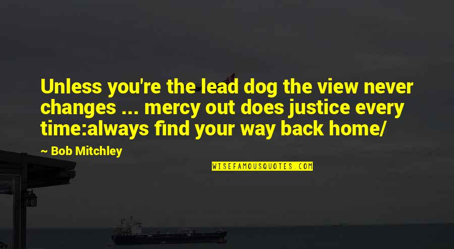 Time Never Changes Quotes By Bob Mitchley: Unless you're the lead dog the view never