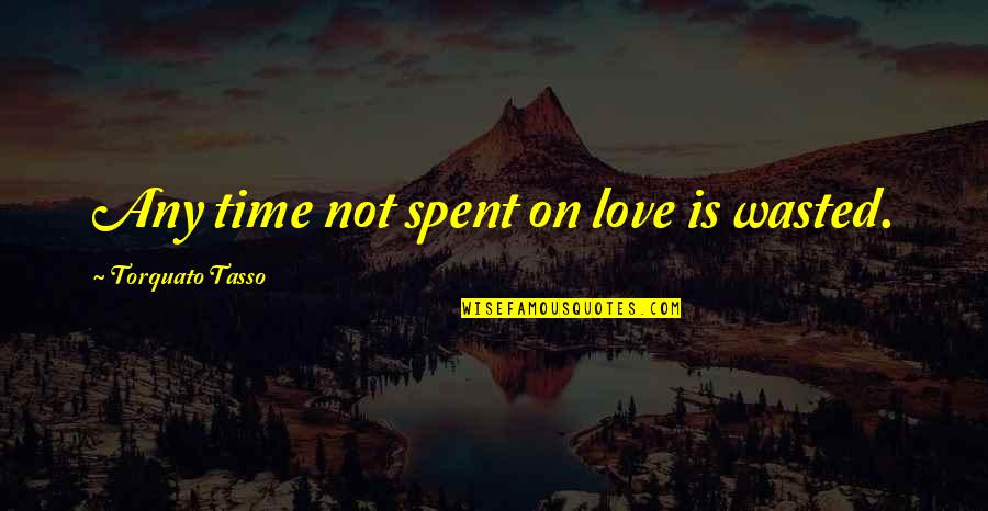 Time Not Wasted Quotes By Torquato Tasso: Any time not spent on love is wasted.