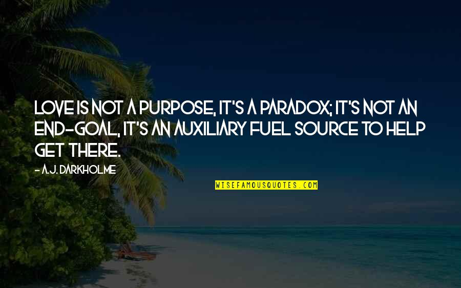Time Paradox Quotes By A.J. Darkholme: Love is not a purpose, it's a paradox;