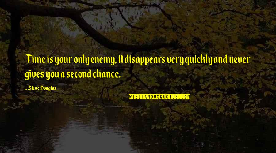 Time Passing Too Quickly Quotes By Steve Douglas: Time is your only enemy, it disappears very