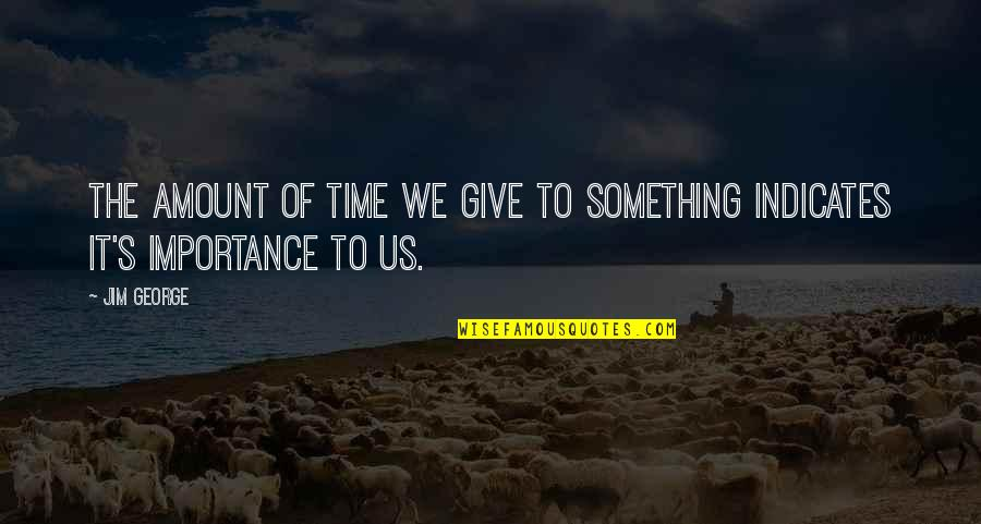 Time To Give Up Love Quotes By Jim George: The amount of time we give to something