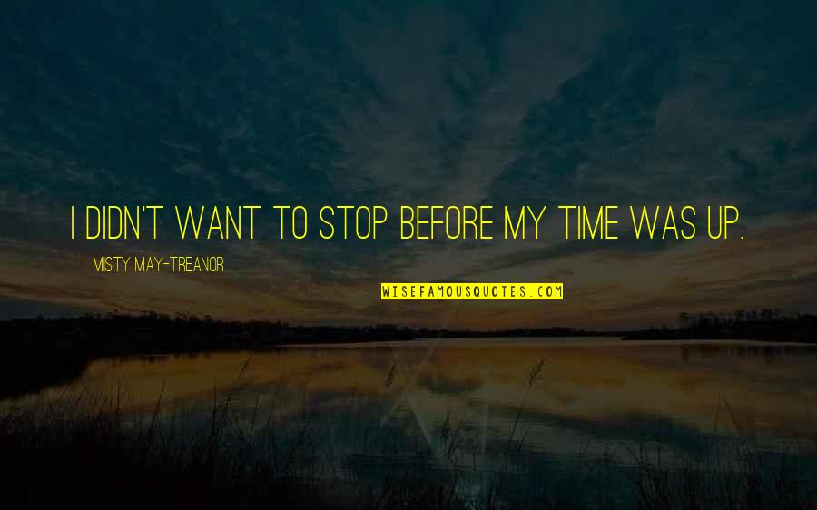 Time To Stop Quotes By Misty May-Treanor: I didn't want to stop before my time