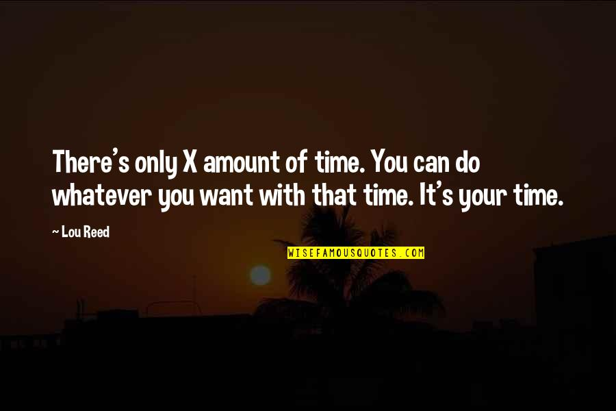 Time With You Quotes By Lou Reed: There's only X amount of time. You can