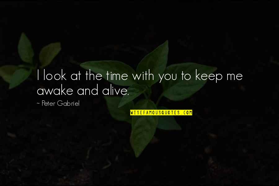 Time With You Quotes By Peter Gabriel: I look at the time with you to