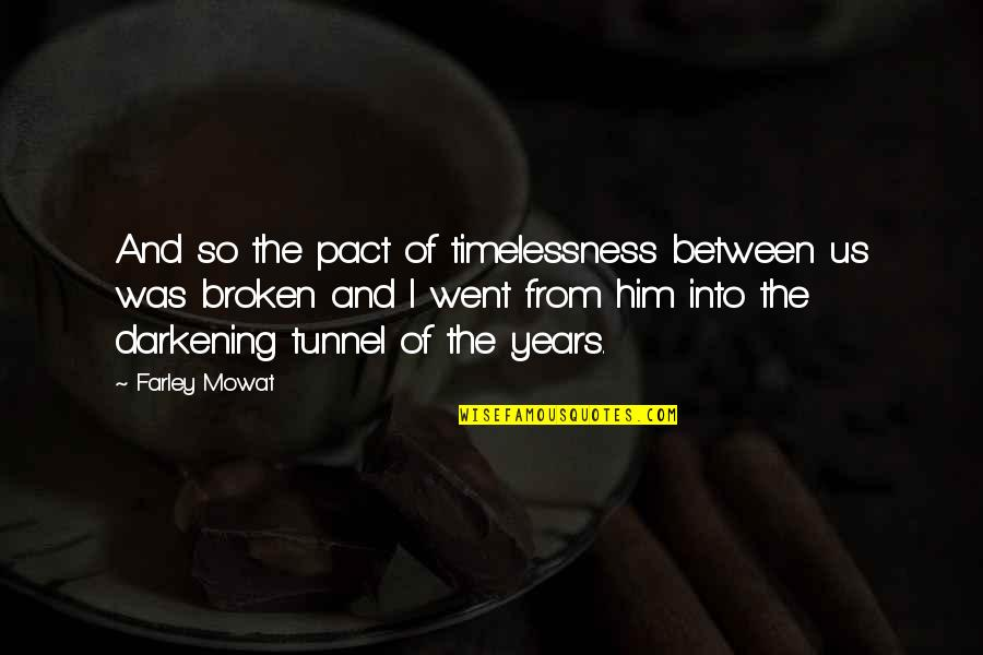 Timelessness Quotes By Farley Mowat: And so the pact of timelessness between us