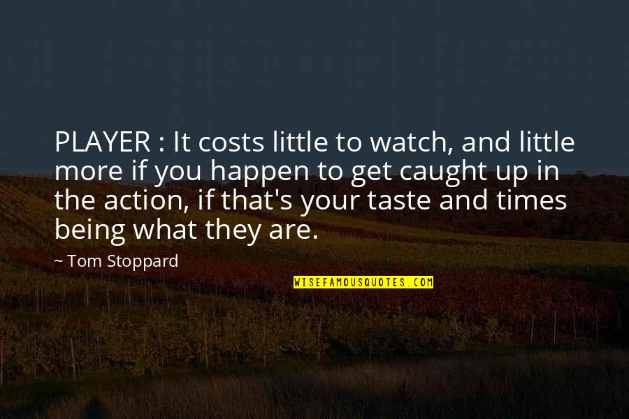 Times Up Quotes By Tom Stoppard: PLAYER : It costs little to watch, and