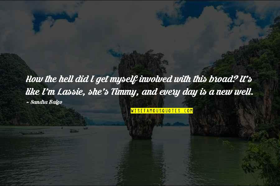 Timmy And Lassie Quotes By Sandra Balzo: How the hell did I get myself involved