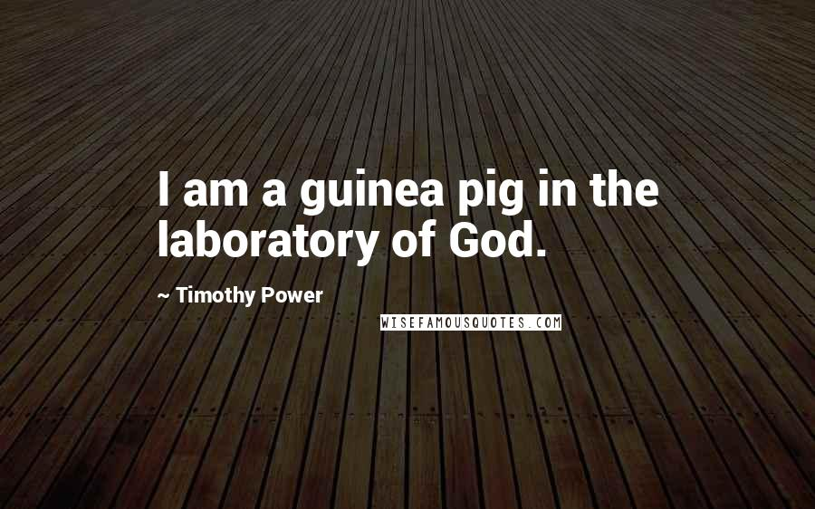 Timothy Power quotes: I am a guinea pig in the laboratory of God.