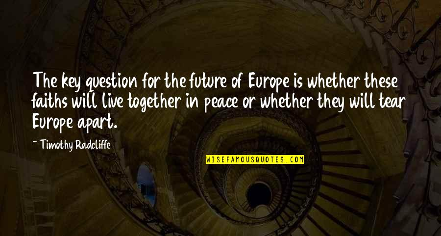 Timothy Radcliffe Quotes By Timothy Radcliffe: The key question for the future of Europe