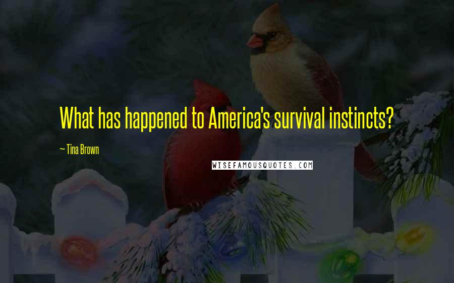 Tina Brown quotes: What has happened to America's survival instincts?
