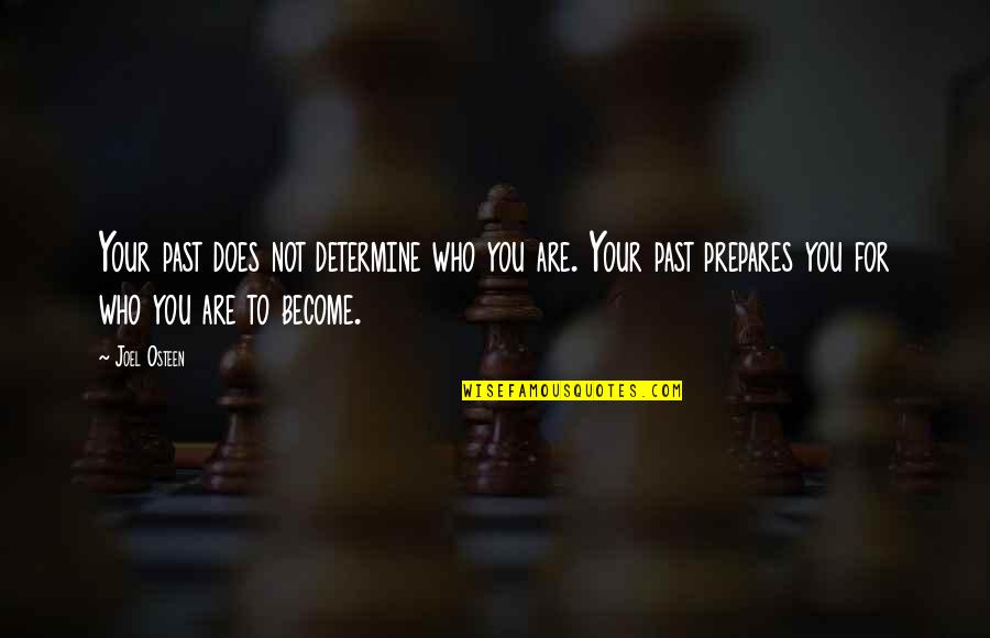 Tinware Quotes By Joel Osteen: Your past does not determine who you are.