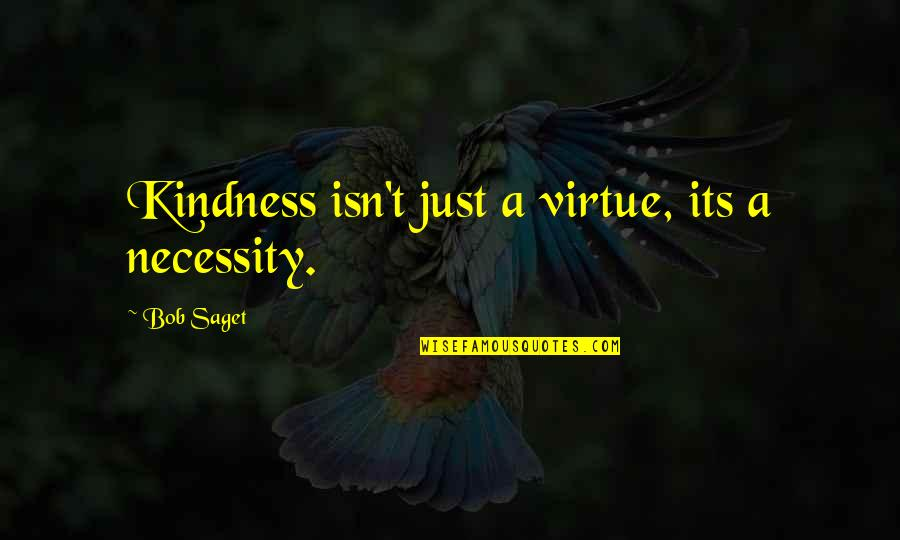 Tired Of Pursuing Quotes By Bob Saget: Kindness isn't just a virtue, its a necessity.